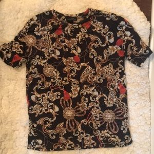 Zara Gold Pattern Shirt